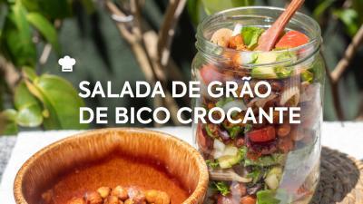 Salada de Grão-de-Bico Crocante