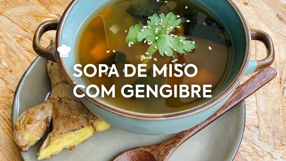 Sopa de Miso com Gengibre